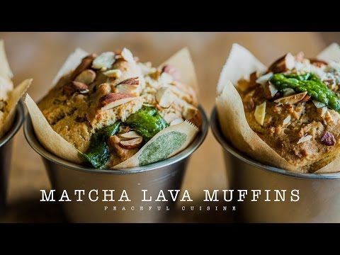 Matcha Lava Muffins (vegan) ☆ 抹茶ラヴァマフィンの作り方 - YouTube