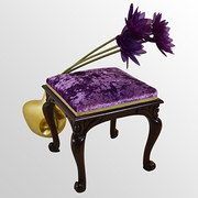 Dressing Stool Footstool Upholstered Seat Condition: Very good Circa 1830