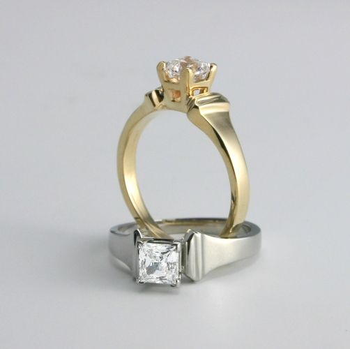 Horseshoe Nail Solitaire - the ultimate equestrian wedding solitaire - www.loriece.com