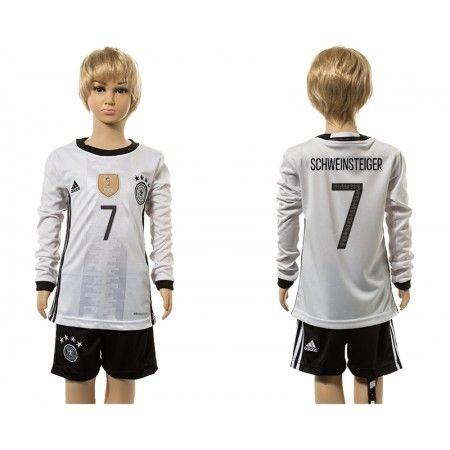 Tyskland Trøje Børn 2016 #Schweinsteiger 7 Hjemmebanetrøje Lange ærmer.222,01KR.shirtshopservice@gmail.com