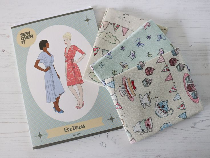 "Pattern and fat quarter inspiration from July's ""Summer Garden Party"" SewHayleyJane box"