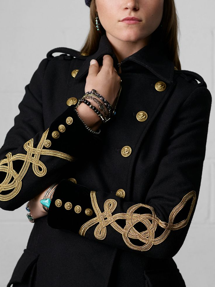 Wool Military Coat - Outerwear   Women - RalphLauren.com
