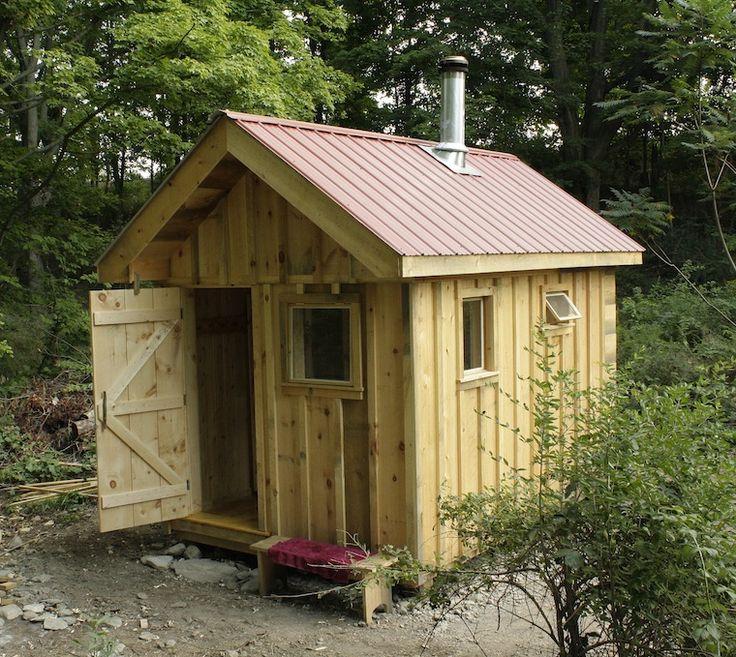 classic Finish- style sauna by Rob Licht Custom Saunas