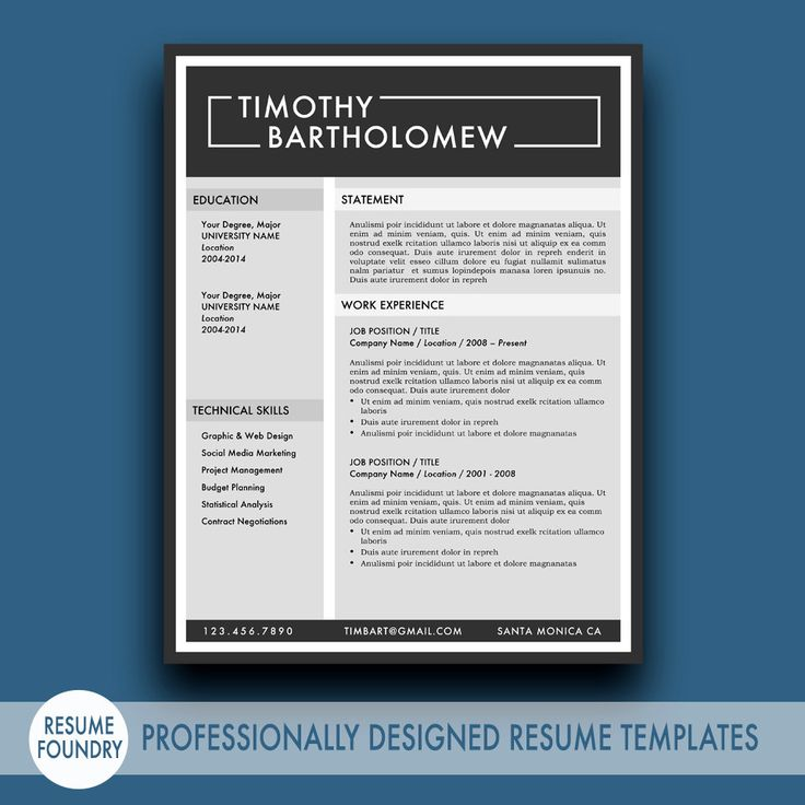 stylish modern creative resume template from resume foundry inspired resume design
