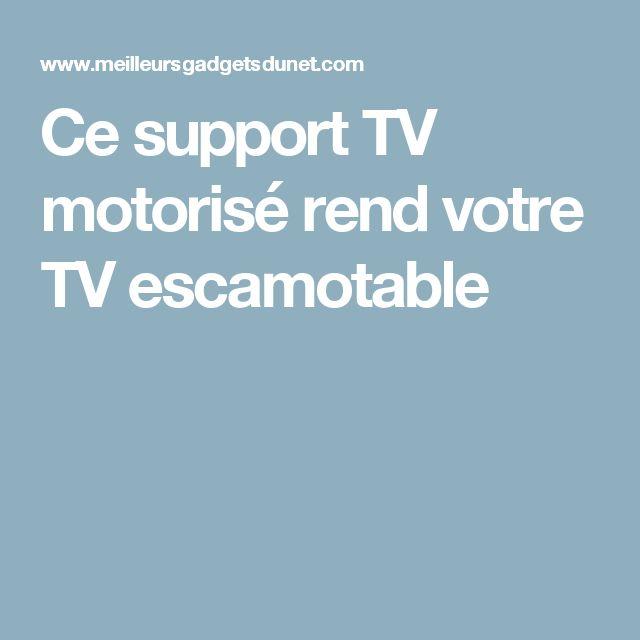 best 25 support tv motoris ideas on pinterest. Black Bedroom Furniture Sets. Home Design Ideas