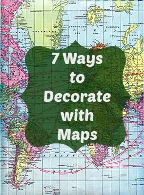 Southern Scraps : 7 Ways to decorate with maps ----- see the last one for the vases on the tables ..... Maybe??