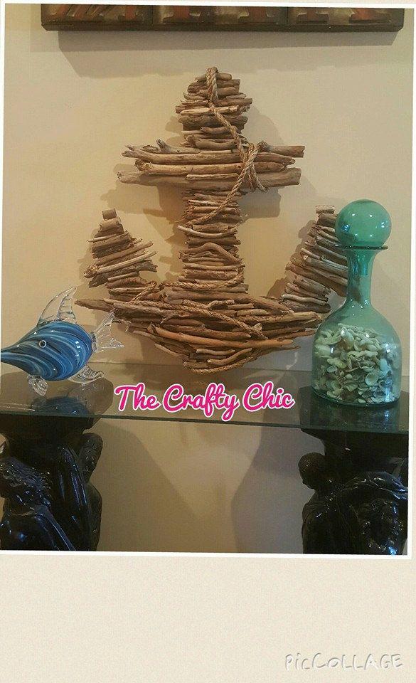 Driftwood Anchor, XL Anchor, Nautical Decor, Beach House, Lake House, Beach Decor, Ocean Decor, Boat Decor, Fathers Day Gift by TheCraftyChicByKimi on Etsy