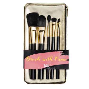 Kit Cosmetics An edit of the best complexion and contouring brushes from Kit.Confidently create any makeup look with this essential set of 5 full size face and eye brushes that make makeup application easy.