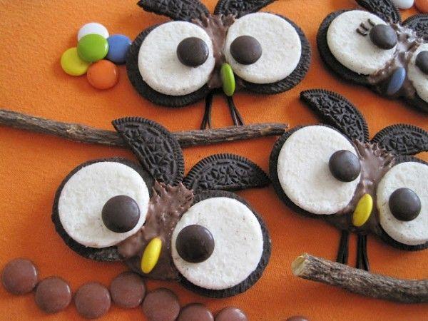 Recetas divertidas: búhos hechos con galletas | Recetas para niños