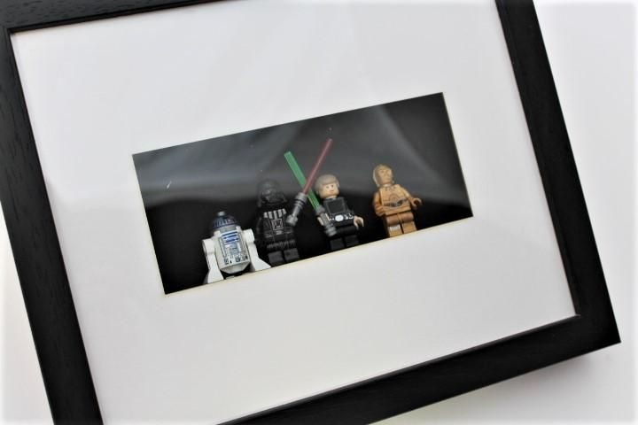 Star Wars Minifigure Frame Luke Skywalker Darth Vader R2d2 C3p0 Mini Figures Luke Skywalker Darth Vader Star Wars Minifigures