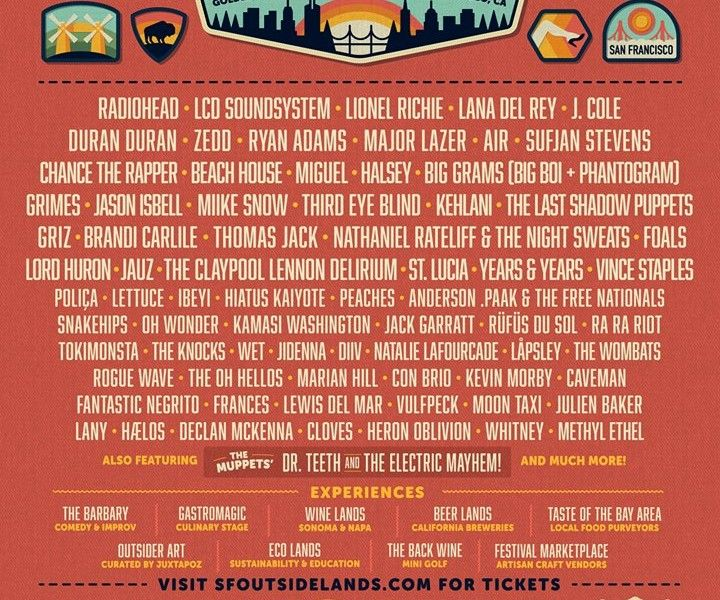Outside Lands reveals 2016 lineup