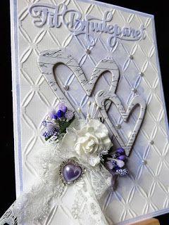 Tones scrapperom: Bryllupskort i syrin - Weddincard in light lilcac