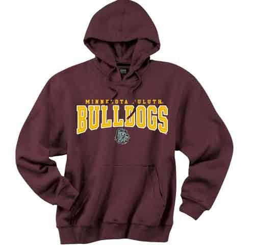 minnesota duluth bulldogs hooded sweatshirt by gear