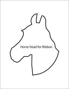 Horse Head Cut Out Template cakepins.com
