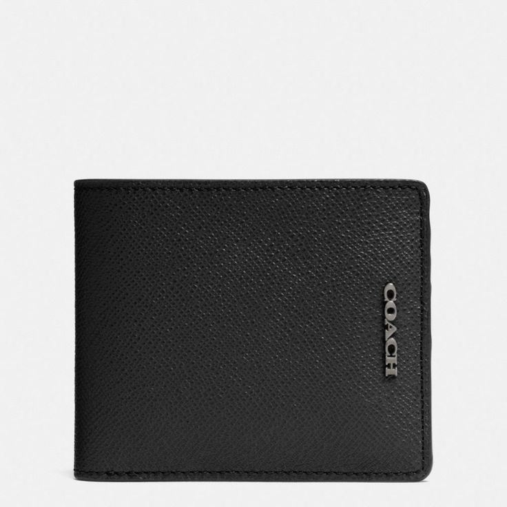 The Compact Id Wallet In Crossgrain Leather from Coach
