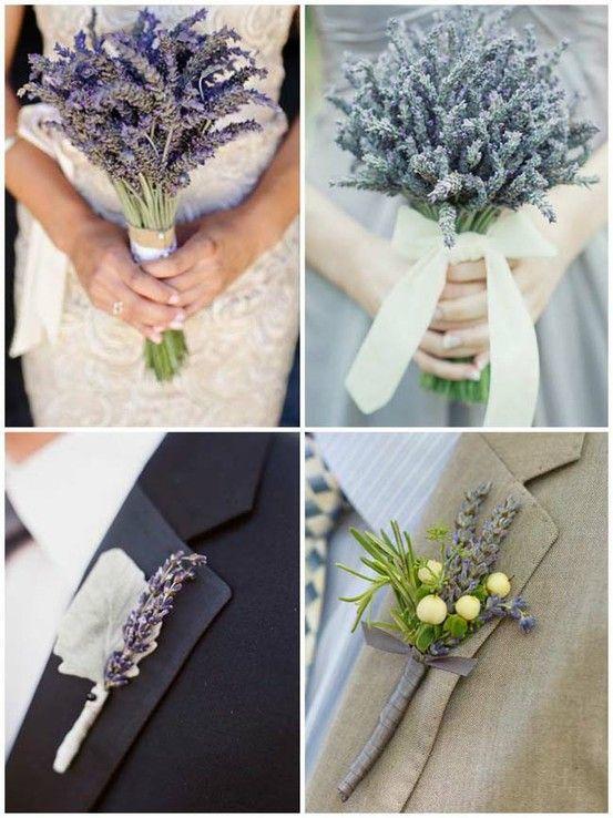 www.weddbook.com everything about wedding ♥ Unique DIY Lavender Wedding Bouquets and Buttonholes  |  El Yapimi Farkli Gelin Cicegi ve Damat Yaka Cicegi