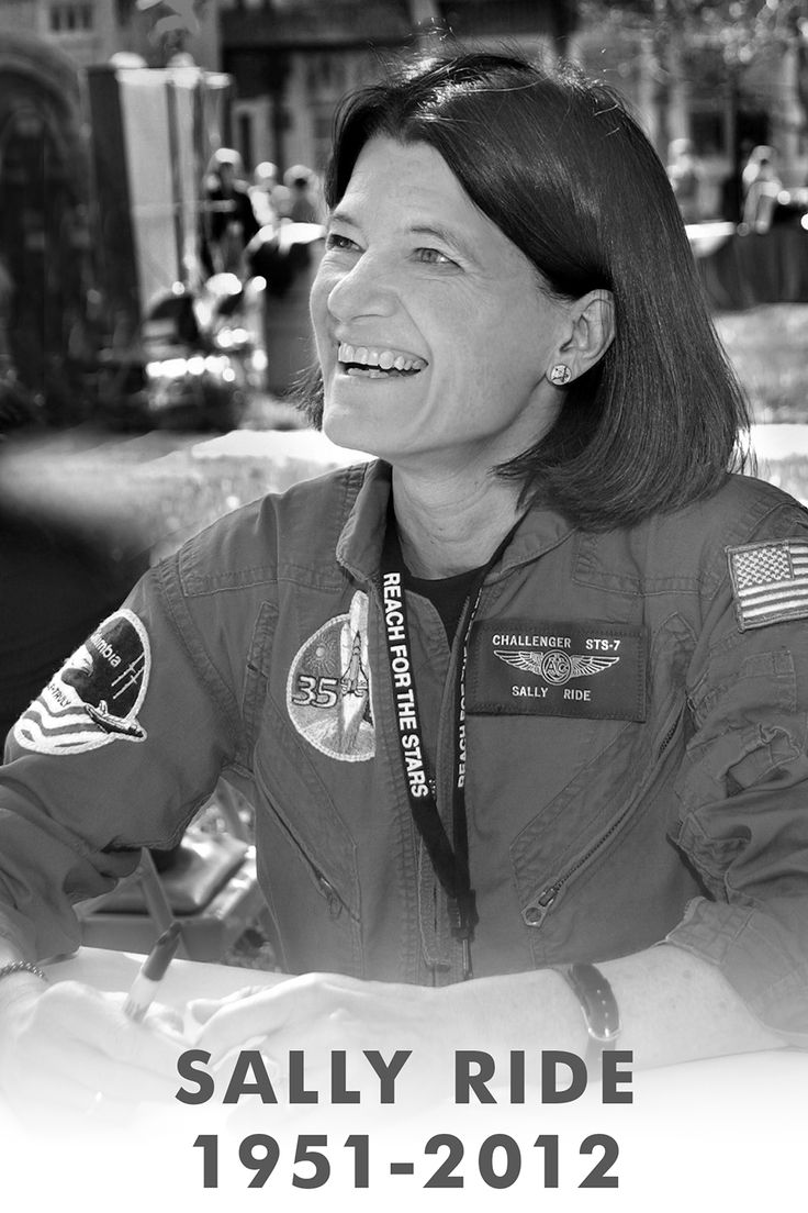 Sally Ride (First American Woman in space) has died after a 17-month long battle against pancreatic cancer. She became a household name after her historic flight on Space Shuttle Challenger in 1983, and then used her high-profile to encourage kids, especially young girls, to pursue science, math, and engineering careers. Sally, you will be dearly missed.: Shuttle Challenges, Spaces Shuttle, Pancreatic Cancer, American Woman, Long Battle, Encouragement Kids, Historical Flight, Sally Riding, Engine Career