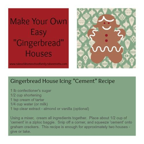 Make Your Own Easy Gingerbread Houses Homeschool Make