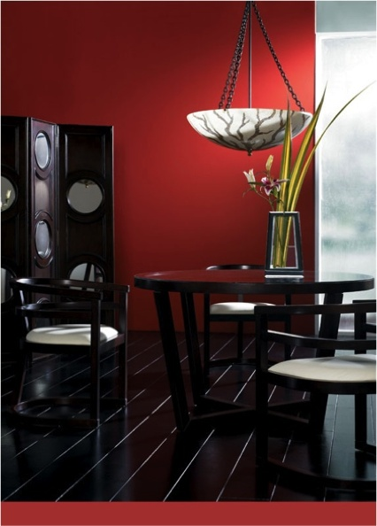 Dining Room Painted In Fleetwoods Red Delicious