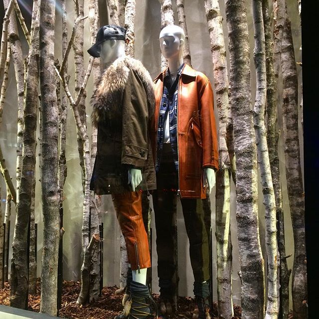 "DSQUARED, London, UK, ""We took a walk in the woods and came out taller than the trees"", photo by Andy Polaris, pinned by Ton van der Veer"