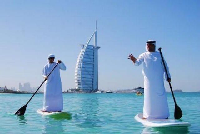 Millionaires Paddling With Their Clothes On  30 Crazy & Hilarious Things That You'll Only See In Dubai • Page 4 of 6 • BoredBug