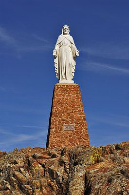 Jesus Christ statue in the Wichita Mountains of Oklahoma