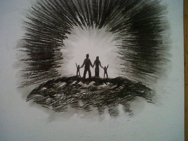 Promise Prophetic Charcoal Artwork by Dion James Raath