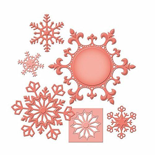 Amazon.com: Spellbinders S5-185 Shapeabilities 2013 Snowflake Pendant Paper Art Template