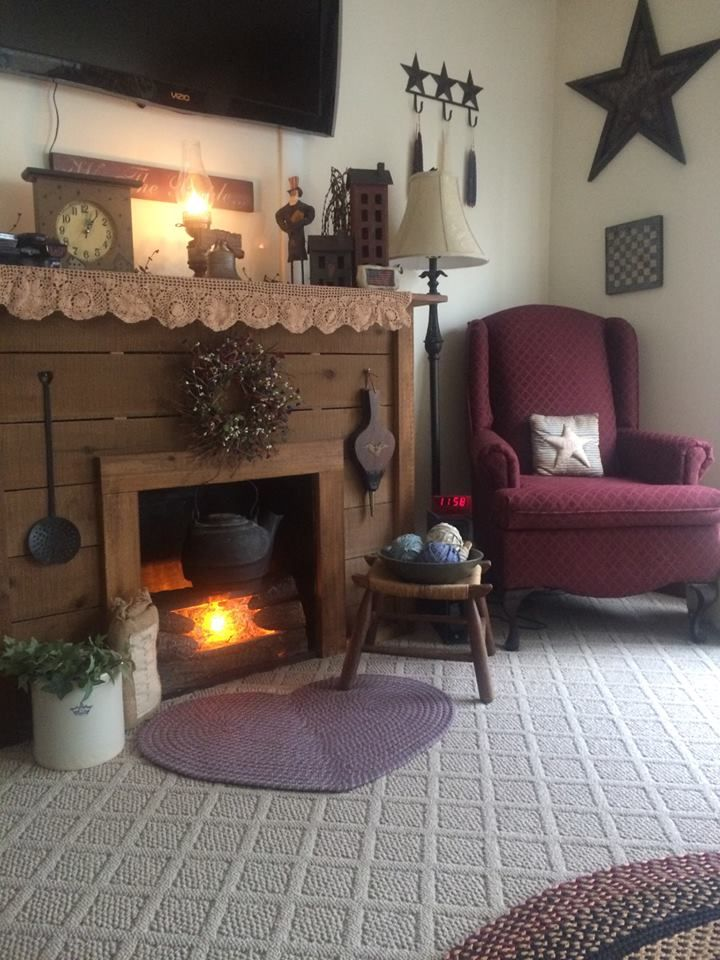 17 Best Images About Primitive Americana Living Room