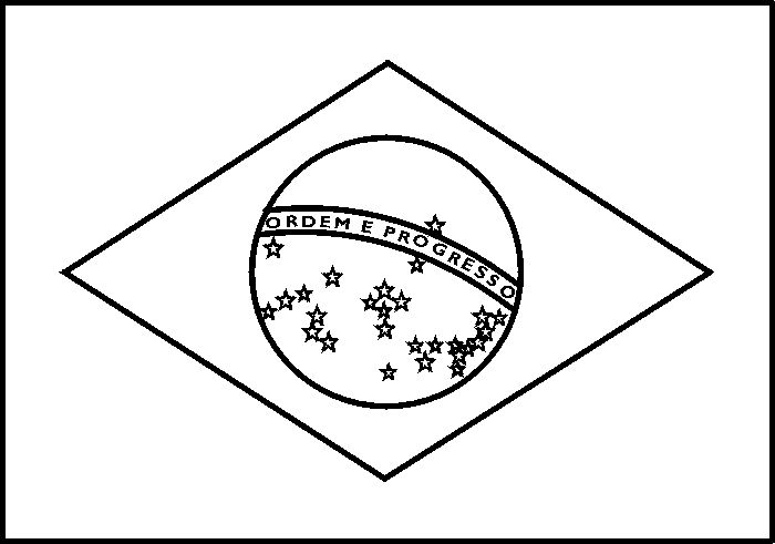 coloring pages flag brazil - photo#1