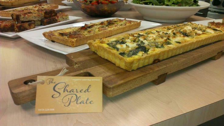 Homemade Tarts, Zucchini Slice and salads