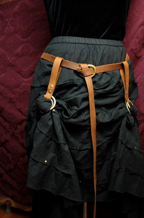 Steampunk Skirt Hikes  skirt lifters belt loop by MyFunkyCamelot, $30.00