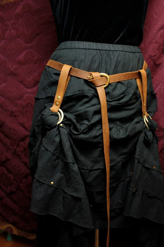 Steampunk Skirt Hikes  skirt lifters belt loop by MyFunkyCamelot, $30.00