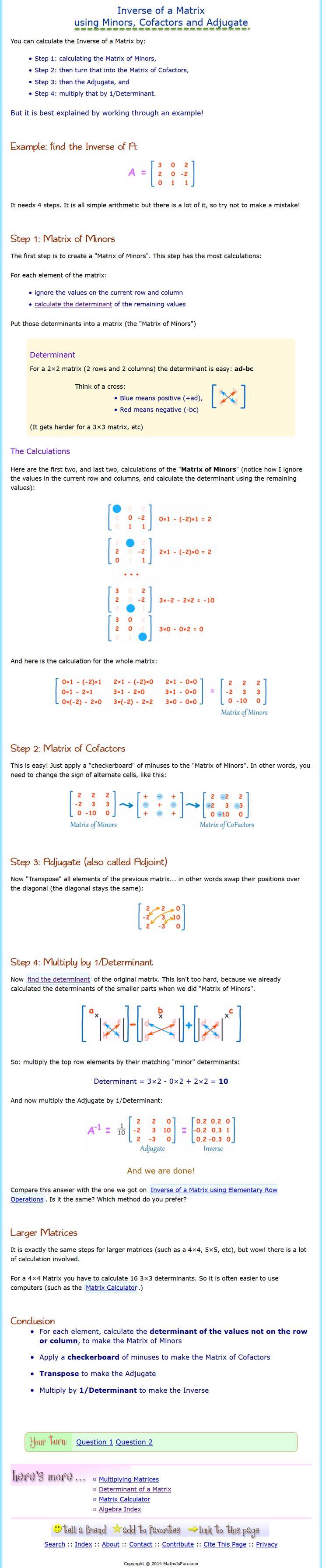 Inverses of Matrices