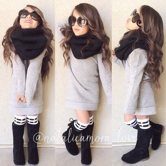 Hair , glasses, scarf, boots, with longer dress