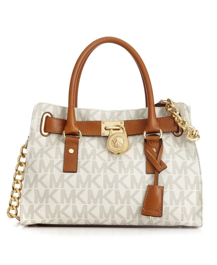 Michael Kors Hamilton Signature Satchel All Handbags Accessories Macy S