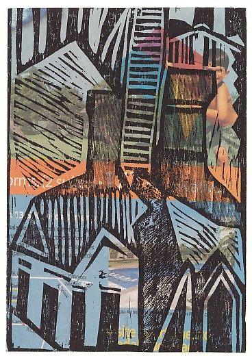 """""""Meier 03"""" - da série Xilocidades - André de Miranda, woodcut printed on real estate advertising."""