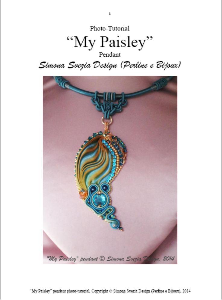 Perline e Bijoux: Tutorial fotografico MY PAISLEY ciondolo / Photo-t...