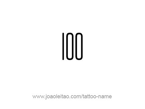 Hundred-100 Number Tattoo Designs - ✍ Tattoos with Names