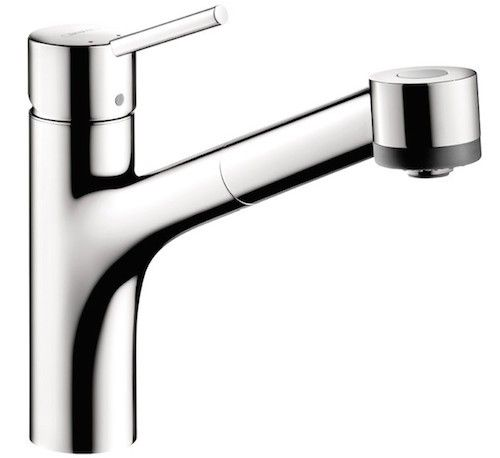 budget german industrial faucet in an industrial greenhouse kitchen on gardenista. Interaktiv S-One Handle Kitchen Faucet $282.29 at All Modern