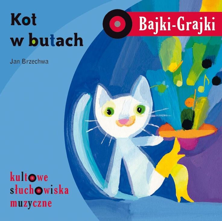 """Bajki-Grajki nr 3 """"Kot w butach""""  Ilustracja: Elżbieta Wasiuczyńska  www.bajki-grajki.pl"""
