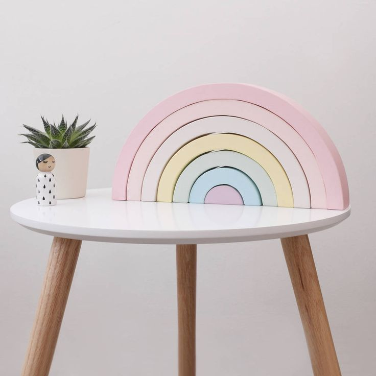 pastel wooden rainbow stacking toy by boon homeware | notonthehighstreet.com