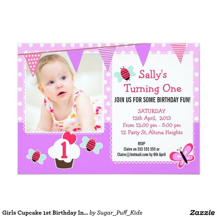 15 best Cupcake Invitations 1St Birthday images on Pinterest ...
