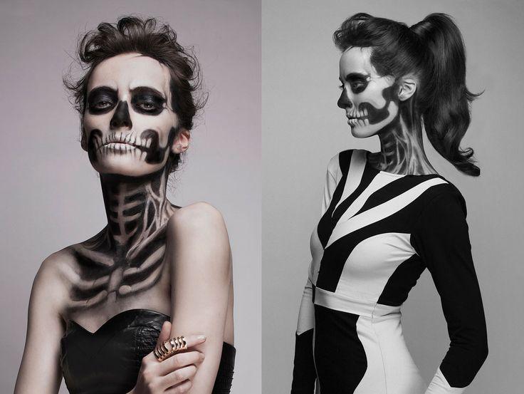 BLOG NALLANDEY: Maquillaje / Esqueleto