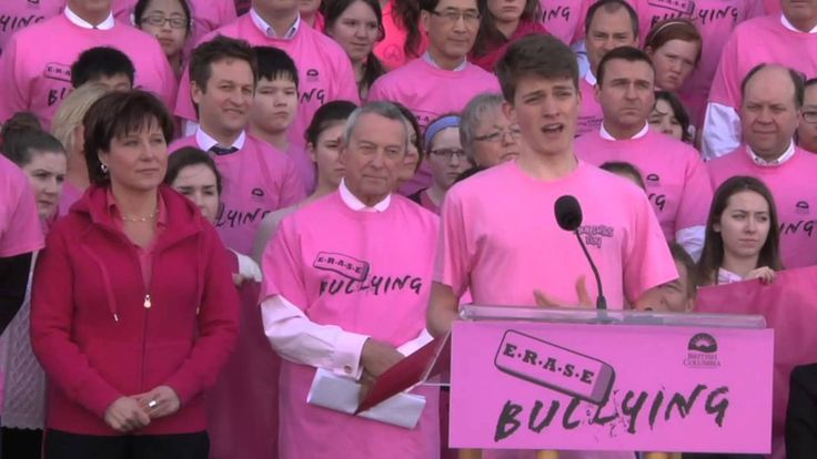 Pink Shirt Day at the BC Legislature