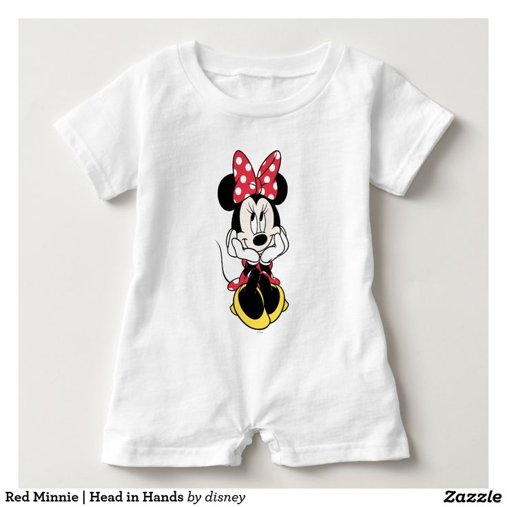 Red Minnie | Head in Hands Baby Romper