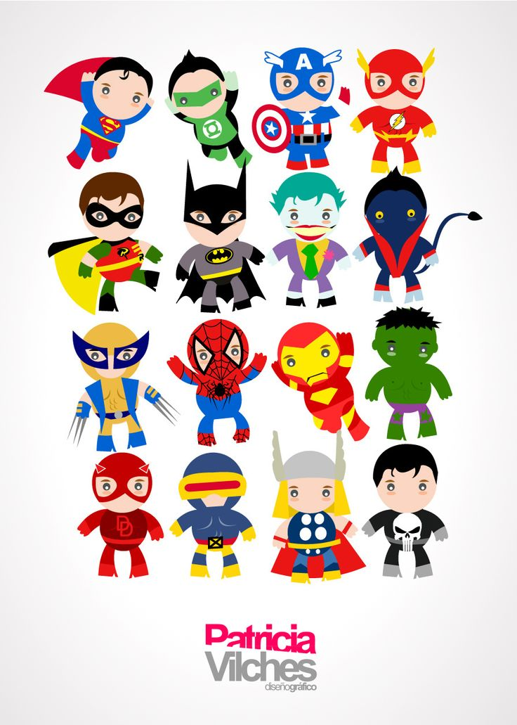 Superheroes #vector #ilustracion #superheroes | A little ...