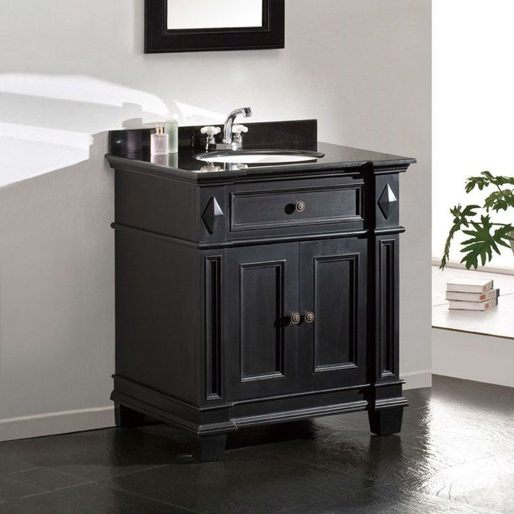 Best 25 vanity backsplash ideas on pinterest bathroom - Black marble bathroom countertops ...
