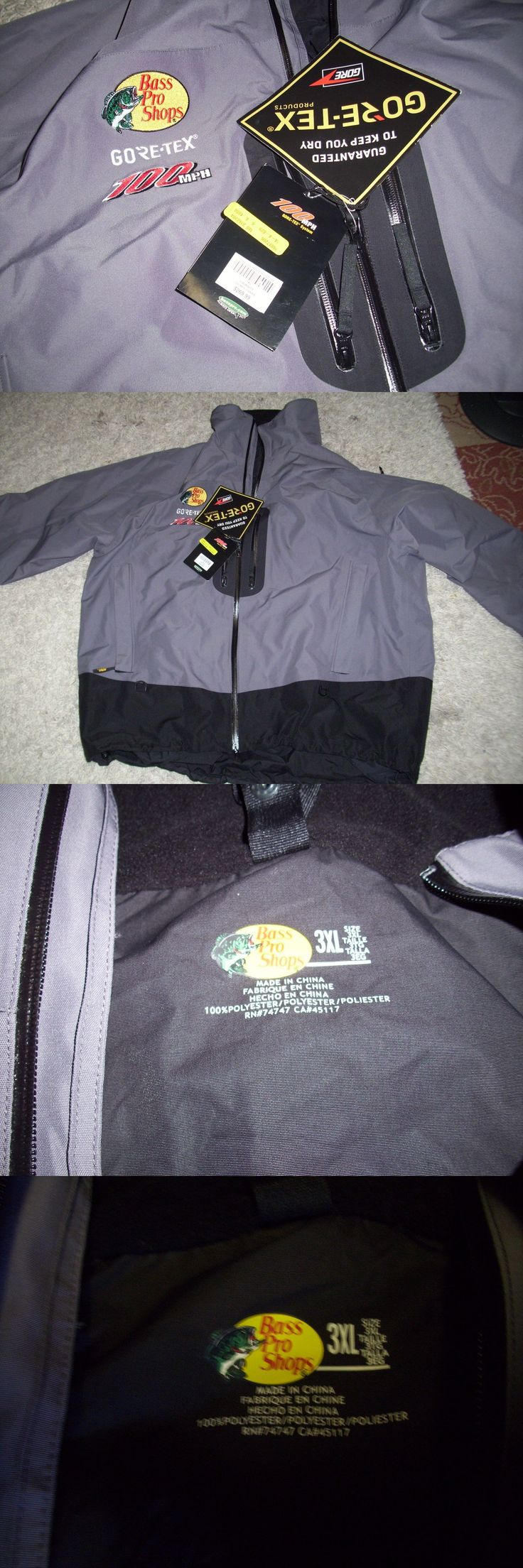 Jacket and Pants Sets 179981: New Bass Pro Shop 100Mph Gore-Tex System Parka Jacket 3Xl Granite $270 -> BUY IT NOW ONLY: $150 on eBay!