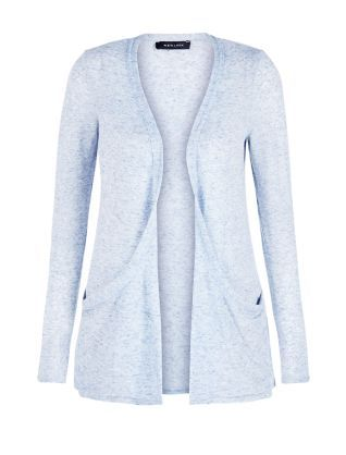 Light Blue Neppy Boyfriend Cardigan  | New Look
